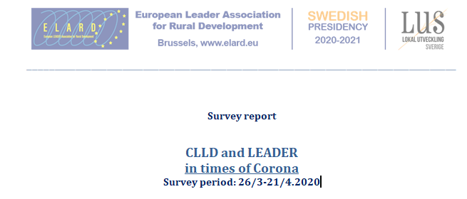 "Results from Survey ""CLLD in times of Corona"" is published!"