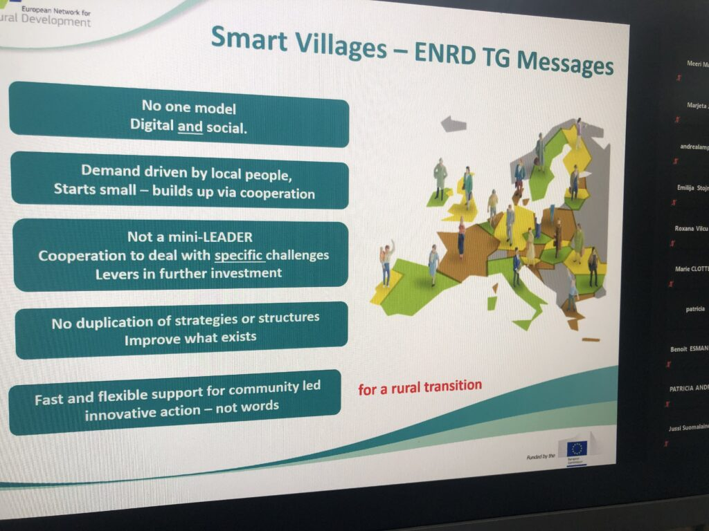ELARD praticipated in the 12th thematic Group meeting on 'Smart Villages'