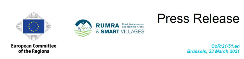 Press release by the Committee of Regions and the RUMRA & Smart Villages Intergroup
