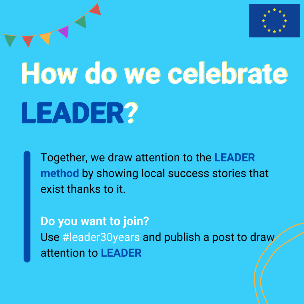 Join the social media campaign to draw attention to #LEADER30years